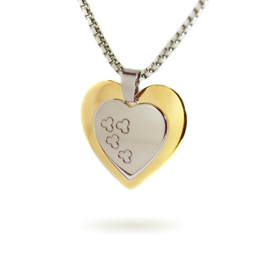 Damen Halskette Herz mit Geschenkbox