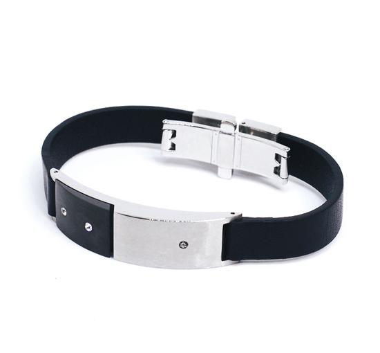 BREIL Kautschuk Edelstahl Armband