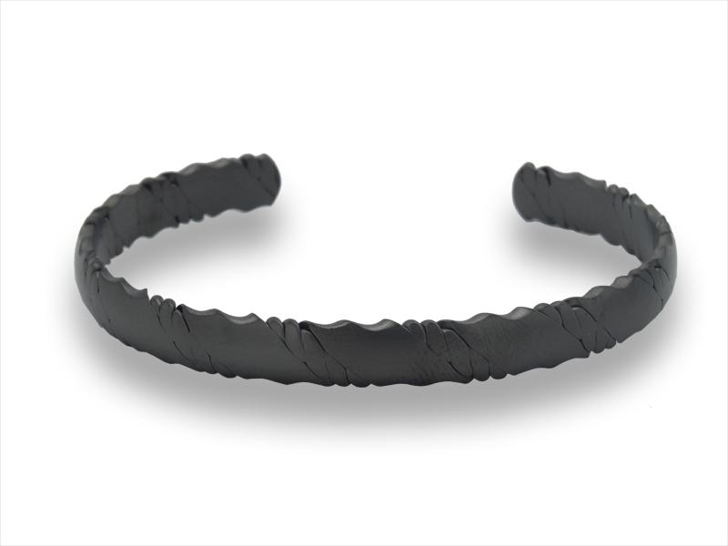 Herrenarmreif - Across - Edelstahl - IP black