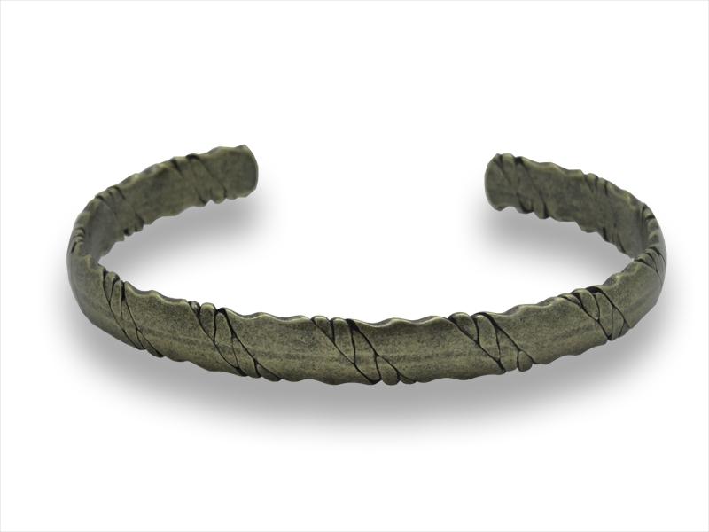 Herrenarmreif - Across - Edelstahl - Bronze