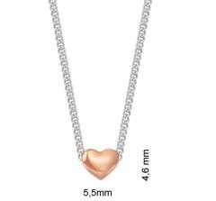 Esprit Halskette Edelstahl Damen Herz Collier mit KLEINEM Herz  5,5 mm x 4,6 mm
