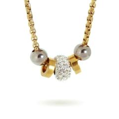 Damen Halskette Zirkonia Anhänger mit Geschenkbox