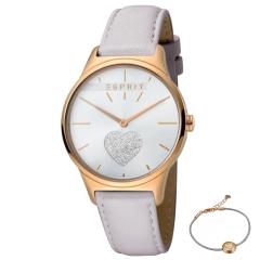 Esprit Damen Armbanduhr ES1L026L0215 Geschenk Set Armband