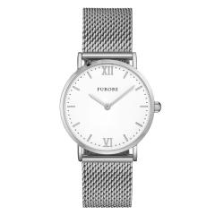 Furore Damen Armbanduhr Silber Maschenband