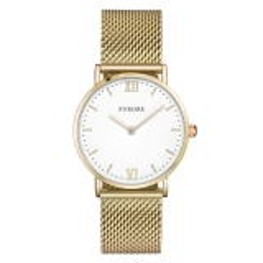 Furore Damen Armbanduhr goldfarbig Maschenband