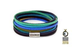 kOmMa5 Design Wickel-Armband doppelt Gewickelt aus Feinem Kunstleder